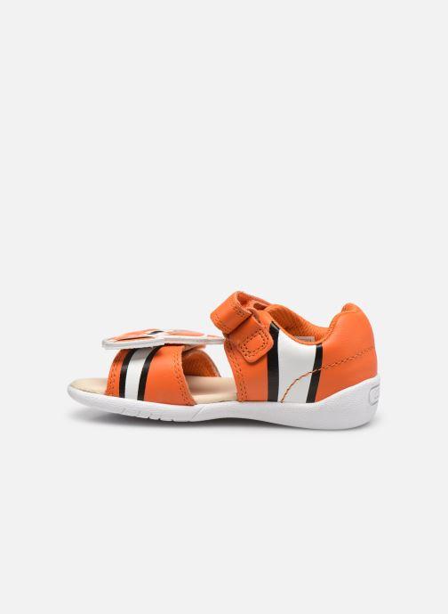 Sandalen Clarks Zora Nemo T orange ansicht von vorne