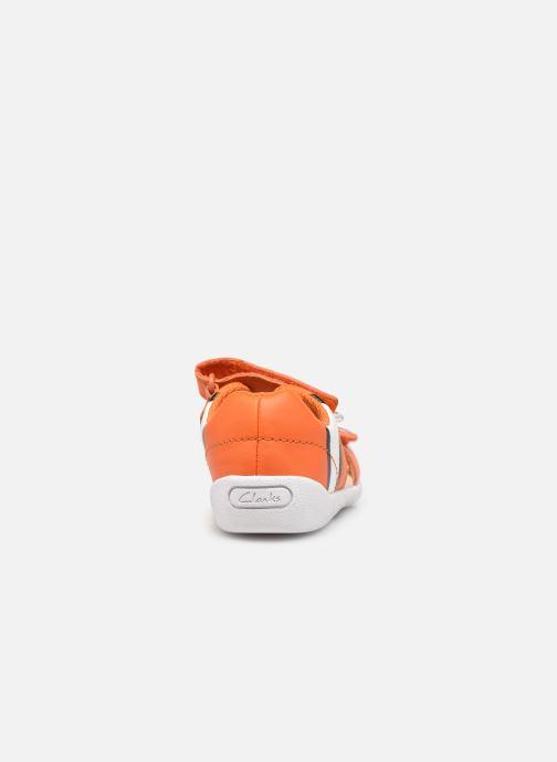 Sandalen Clarks Zora Nemo T orange ansicht von rechts