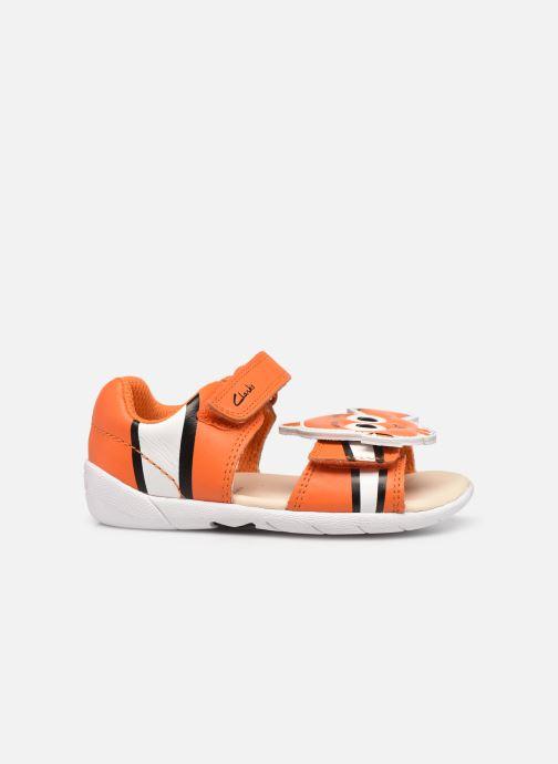 Sandalen Clarks Zora Nemo T orange ansicht von hinten