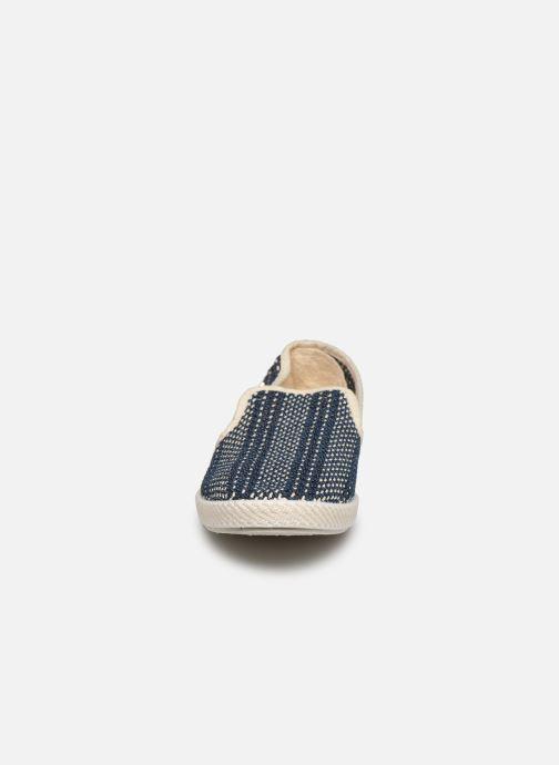 Scarpe di corda Rivieras Jean tressé Azzurro modello indossato