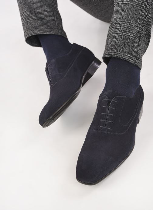 Scarpe con lacci Santoni NANTES Azzurro immagine dal basso