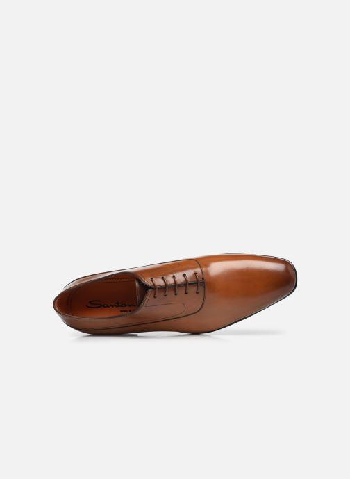 Scarpe con lacci Santoni NANTES Marrone immagine sinistra
