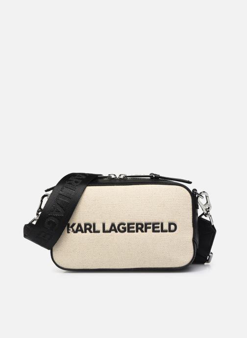 Handtaschen Karl Lagerfeld K/Skuare Camera Bag Canvas beige detaillierte ansicht/modell