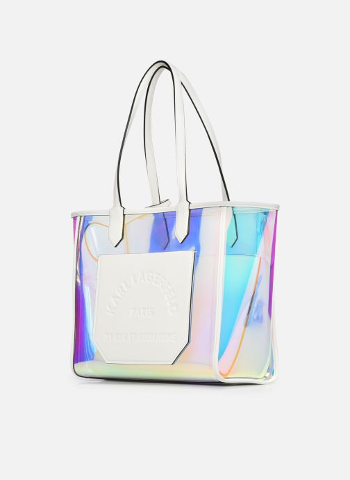 Borse Karl Lagerfeld K/Journey Hologram Tote Argento modello indossato