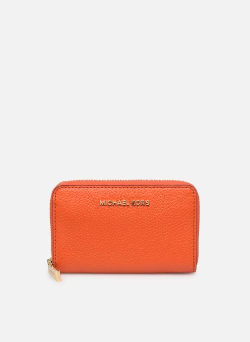 Punge og etuier Michael Michael Kors JET SET SM ZA CARD CASE Orange detaljeret billede af skoene
