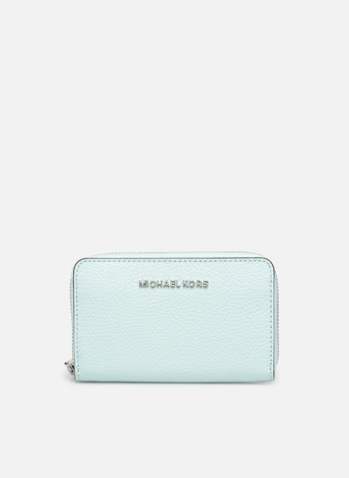 Marroquinería pequeña Michael Michael Kors JET SET SM ZA CARD CASE Azul vista de detalle / par
