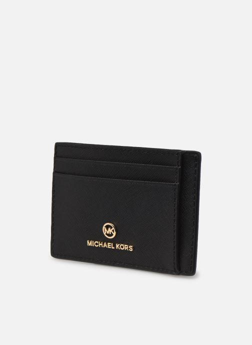 Pelletteria Michael Michael Kors JET SET CHARM SM ID CARD CASE Nero modello indossato