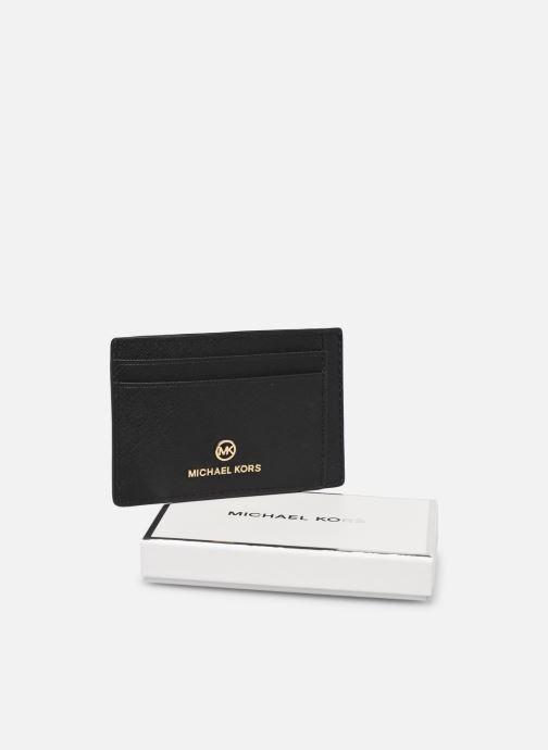 Pelletteria Michael Michael Kors JET SET CHARM SM ID CARD CASE Nero immagine sinistra