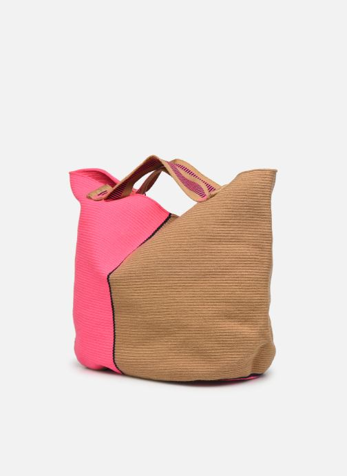 Borse Guanabana Rapsody Bag Stingray Rosa modello indossato