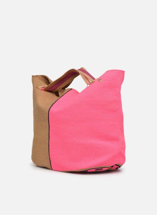Handtaschen Guanabana Rapsody Bag Stingray rosa ansicht von rechts