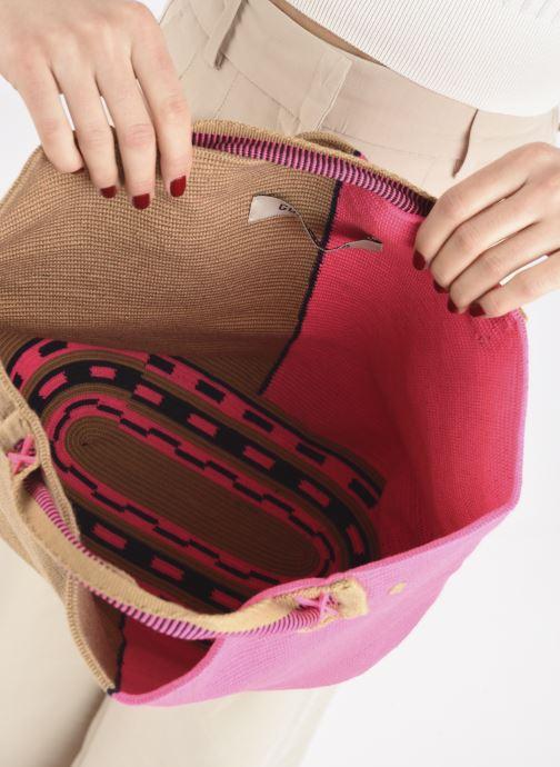 Handtaschen Guanabana Rapsody Bag Stingray rosa ansicht von hinten
