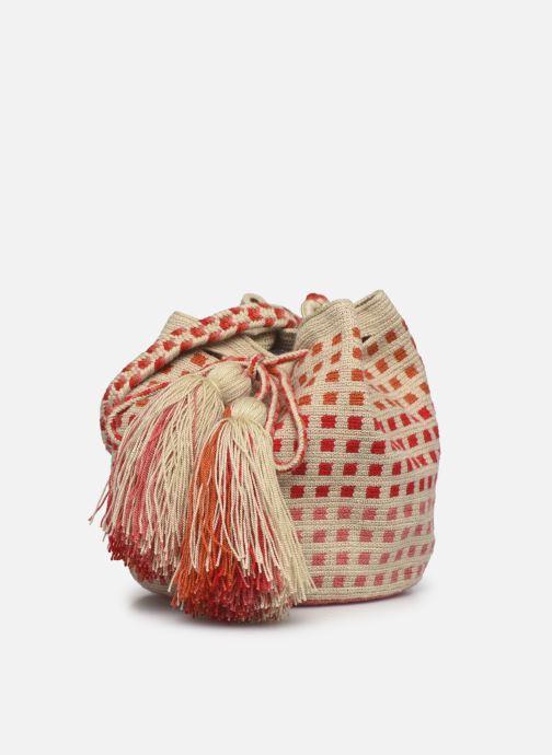 Handtaschen Guanabana Medium Buckect bag Molly rosa schuhe getragen
