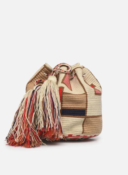 Handtaschen Guanabana Medium Buckect bag Goliath beige schuhe getragen