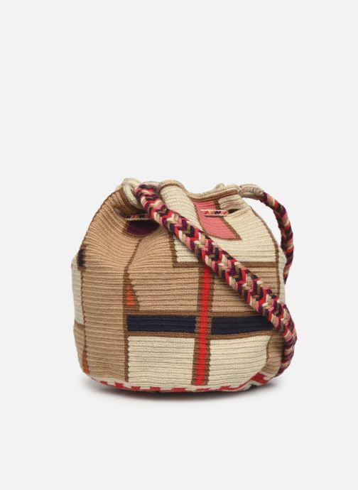 Handtaschen Guanabana Medium Buckect bag Goliath beige ansicht von vorne