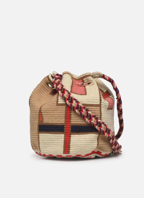 Handtaschen Guanabana Medium Buckect bag Goliath beige ansicht von rechts