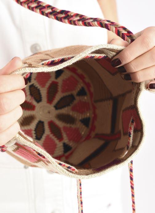 Handtaschen Guanabana Medium Buckect bag Goliath beige ansicht von hinten