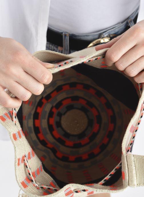 Handtaschen Guanabana Enid Bag Damsel beige ansicht von hinten