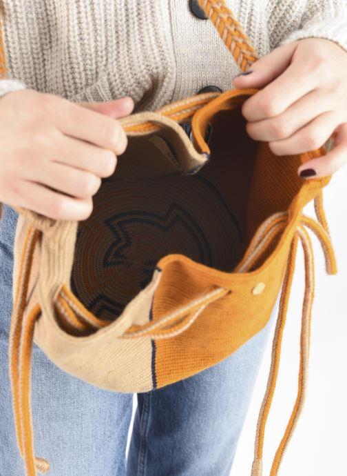 Handtaschen Guanabana Ami Bag Stingray gelb ansicht von hinten