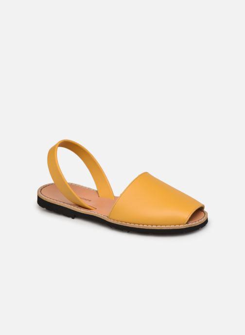 Sandalen Minorquines Avarca Cuir Golden gelb detaillierte ansicht/modell