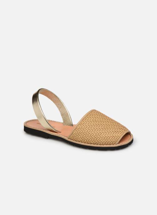 Sandalen Minorquines Avarca Cuir Tressé Beige beige detaillierte ansicht/modell