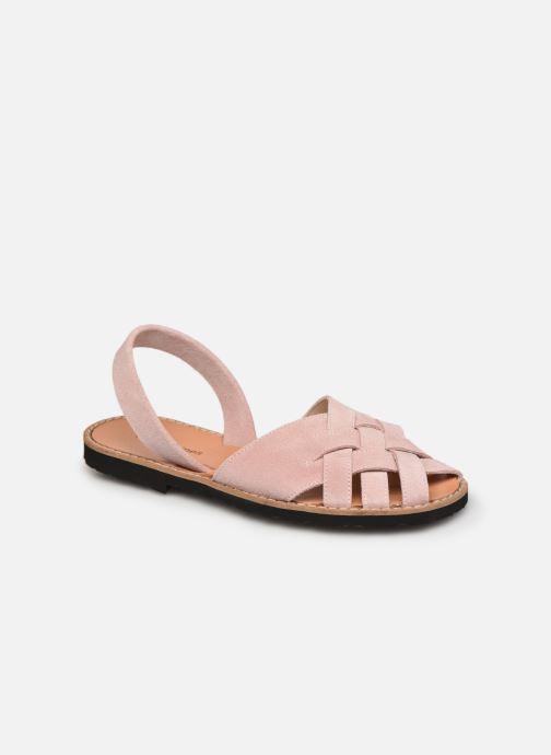 Sandalen Minorquines Avarca Compostelle Velours Rose / Avarca Compostella Velvet Pink rosa detaillierte ansicht/modell