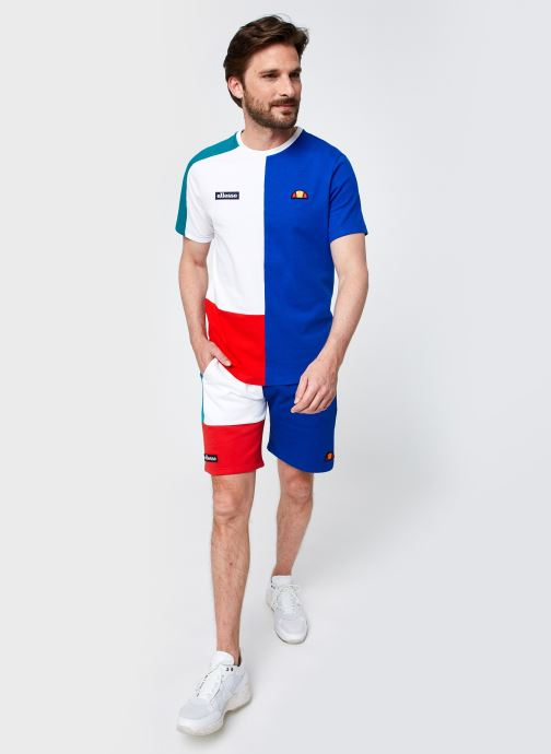 Vêtements Ellesse Rothko Short M Blanc vue bas / vue portée sac