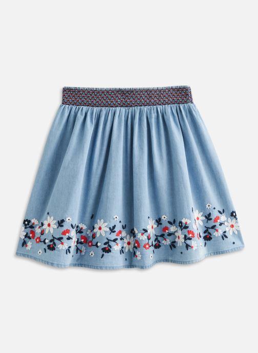 Vêtements Vertbaudet Jupe Smockee Bleu vue bas / vue portée sac