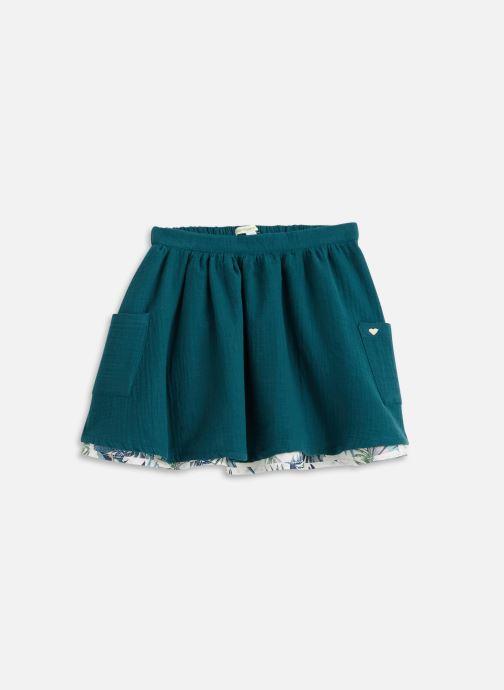 Vêtements Vertbaudet Jupe Aop Reversible Vert vue détail/paire