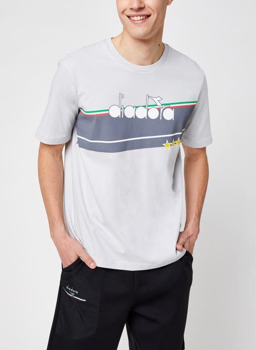 Kleding Diadora T shirt Icon Stella - Organic Textile - Grijs detail
