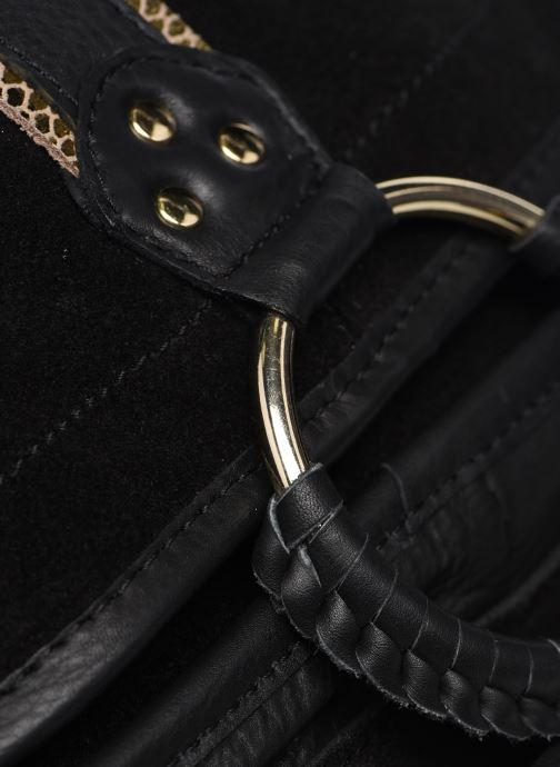 Bolsos de mano Pieces GRY LEATHER CROSS BODY Negro vista lateral izquierda
