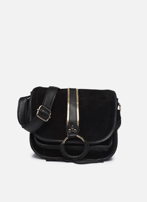 Handtaschen Pieces GRY LEATHER CROSS BODY schwarz detaillierte ansicht/modell