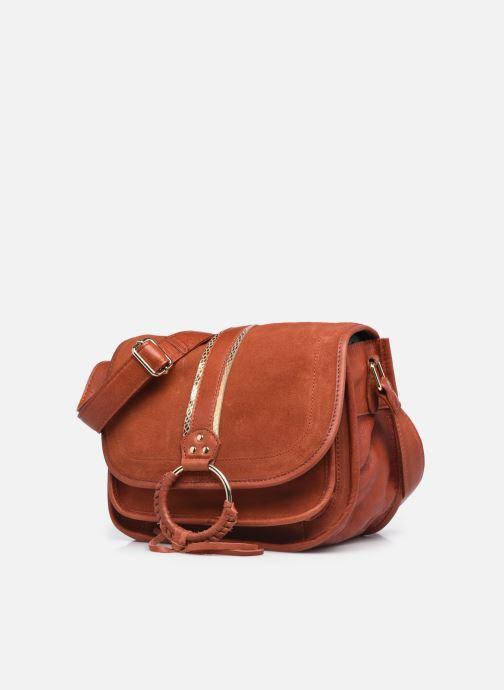 Handtaschen Pieces GRY LEATHER CROSS BODY rot schuhe getragen