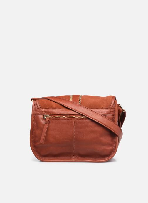 Handtaschen Pieces GRY LEATHER CROSS BODY rot ansicht von vorne