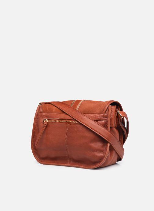 Handtaschen Pieces GRY LEATHER CROSS BODY rot ansicht von rechts