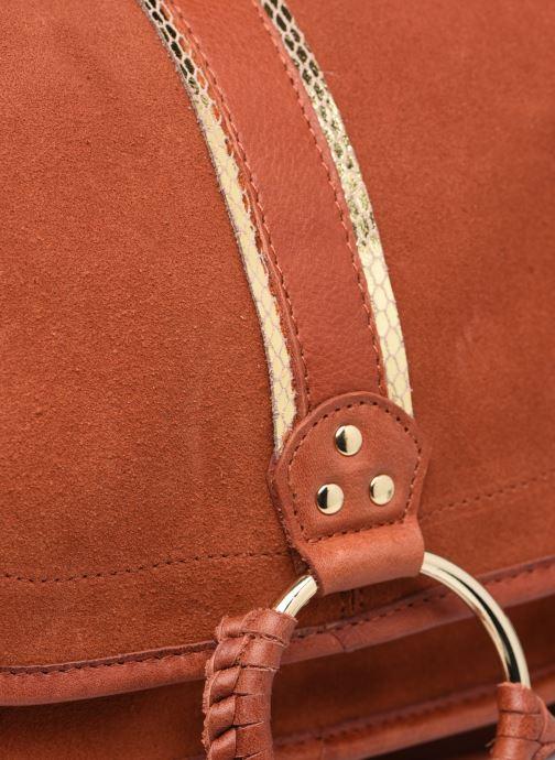 Handtaschen Pieces GRY LEATHER CROSS BODY rot ansicht von links