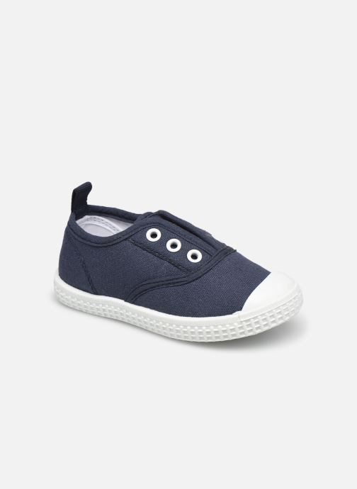 Sneakers Vertbaudet BG - Basket toile élastique Blauw detail
