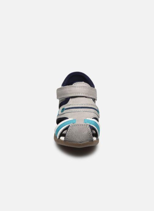 Sandalen Vertbaudet BG - Sandale bout couvert grau schuhe getragen