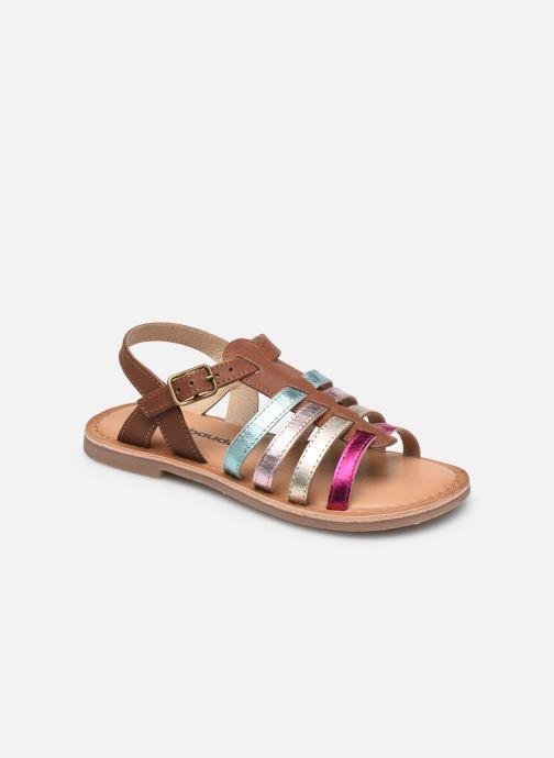 Sandales et nu-pieds Vertbaudet KF - Spartiate basse Multicolore vue détail/paire