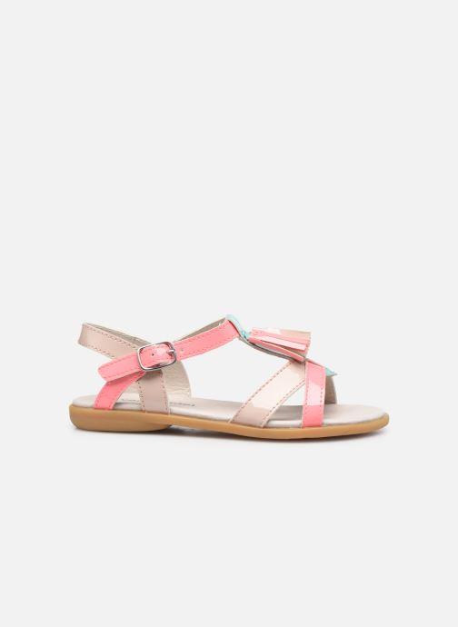Sandalen Vertbaudet KF - Sandales synthé rosa ansicht von hinten