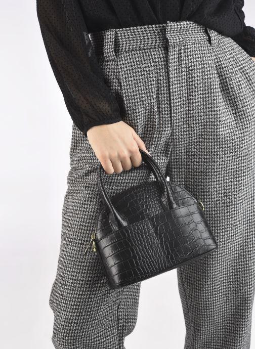 Handtaschen Georgia Rose Mélina schwarz ansicht von unten / tasche getragen