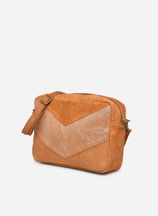 Handtaschen Georgia Rose Mélodie braun schuhe getragen