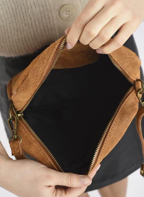 Handtaschen Georgia Rose Mélodie braun ansicht von hinten