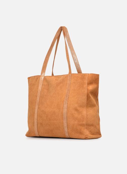 Handtaschen Georgia Rose Maeli braun schuhe getragen