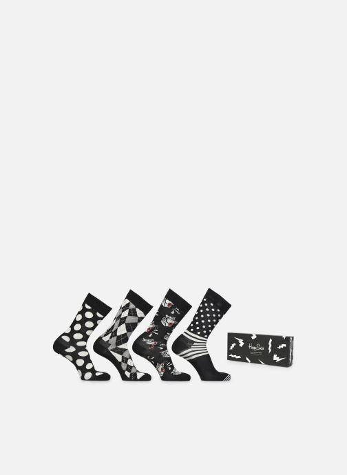 Sokken en panty's Happy Socks Gift Box Black & White Lot de 4 Zwart detail