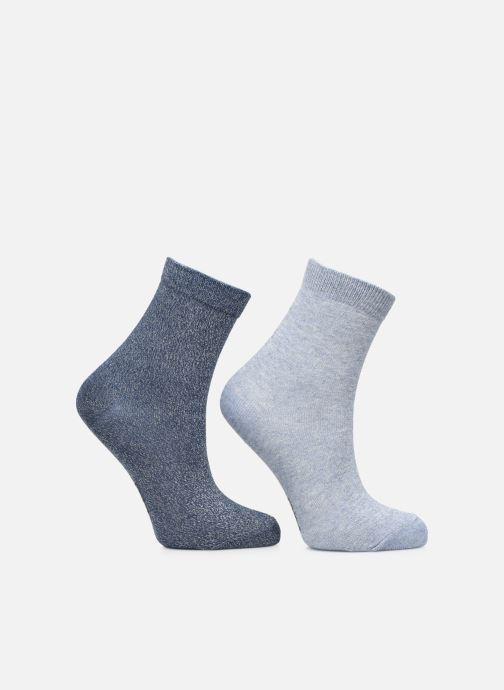 Socken & Strumpfhosen Dim KID Mi-Chaussettes Lurex Coton Style X2 blau schuhe getragen