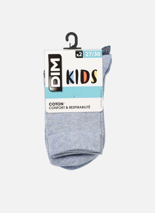 Socken & Strumpfhosen Dim KID Mi-Chaussettes Lurex Coton Style X2 blau detaillierte ansicht/modell