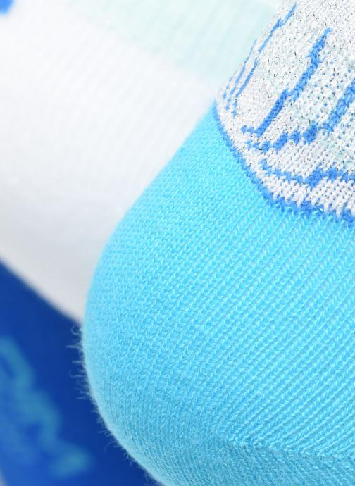 Socken & Strumpfhosen Dim KID Socquettes Courtes Coquillage Coton Style  X3 blau ansicht von vorne