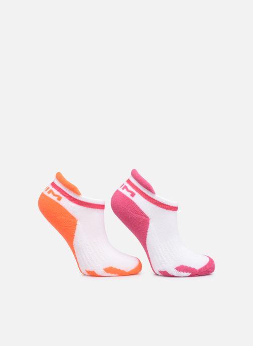 Socken & Strumpfhosen Dim KID Socquettes Courtes Sport Retro X2 weiß schuhe getragen