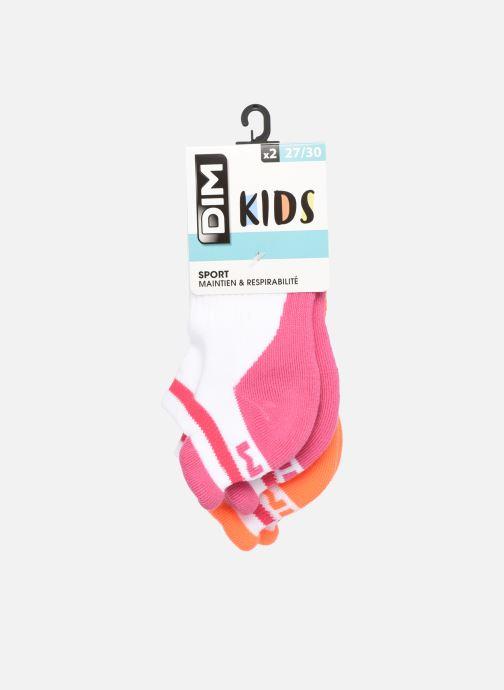 Socken & Strumpfhosen Dim KID Socquettes Courtes Sport Retro X2 weiß detaillierte ansicht/modell