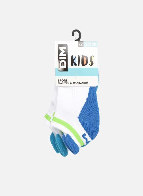 Chaussettes et collants Dim KID Socquettes Courtes Sport Retro X2 Blanc vue détail/paire